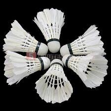 6Pcs White Goose Feather Badminton Shuttlecocks Outdoor Ball Game Training New