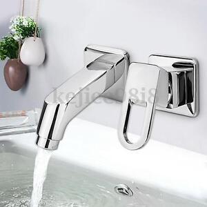 Modern Mixer Tap Wall Mount Kitchen Bathroom Basin Sink