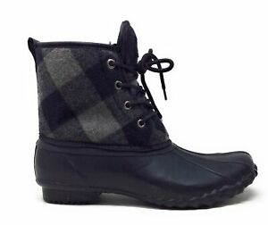 Western-Chief-Women-039-s-Basic-Buffalo-Four-Eye-Duck-Boots-Charcoal-Size-9-M
