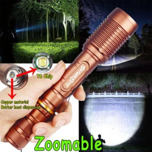 Tactical 350000Lumens NEW SWAT 5Modes LED Flashlight Aluminum Zoom Torch Lot USA