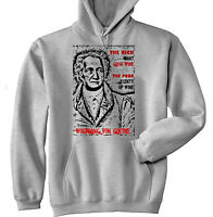Wolfgang Von Goethe The Rich & Poor Quote - Cotton Grey Hoodie