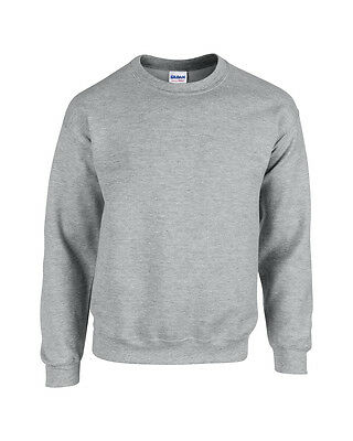 New Gildan Crew Neck Pullover Sweatshirt Sweater 24 Great Colours S M L XL 2XL