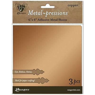 "Ranger Vintaj Foil Sheets (3 Pack) 6""X6"" - Copper"