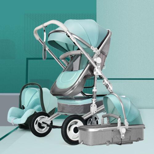 Baby Stroller 3 in 1 Portable Folding jogger pram High View pushchair&car seat