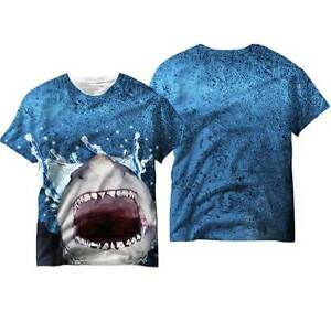 62bc61d3a Jaws Great White Shark Head Adult Men's Sublimation T Shirt