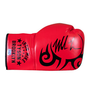 Mike Tyson Signed Boxing Glove - Red, Tattoo, Iron Mike Tyson Brooklyn