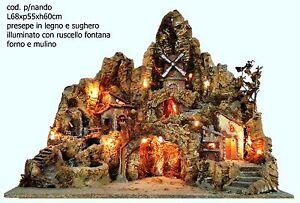 Presepe-presepio-artigianale-napoletano-diPNando-forno-ruscello-mulino-68x55x60