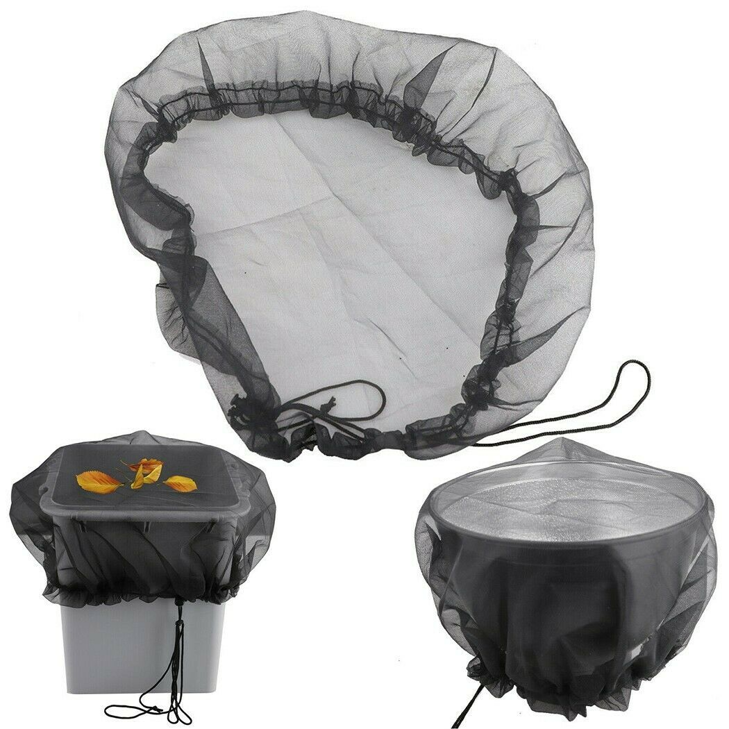 Rain Barrels Mesh Cover Netting Outdoor Water Collection Buckets Tank Protector