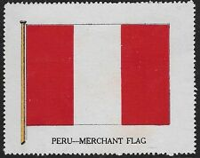 Cinderella Poster stamp issued during WWI: 1825 Flag of Peru -dw595p