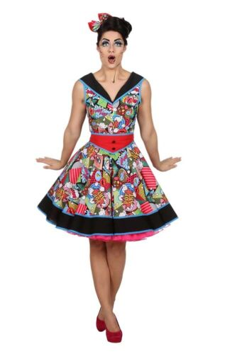 Pop Art Lady señora disfraz nuevo-señora carnaval carnaval disfraz disfraz