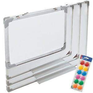 Whiteboard-Magnettafel-Wandtafel-110-x-80-cm-12-Magnete-Praesentationstafel-neu