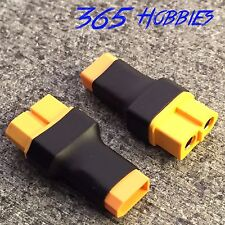 QTY-(2) Male XT-30 to Female XT-60 Wireless Connector Adapter Turnigy Drone FPV