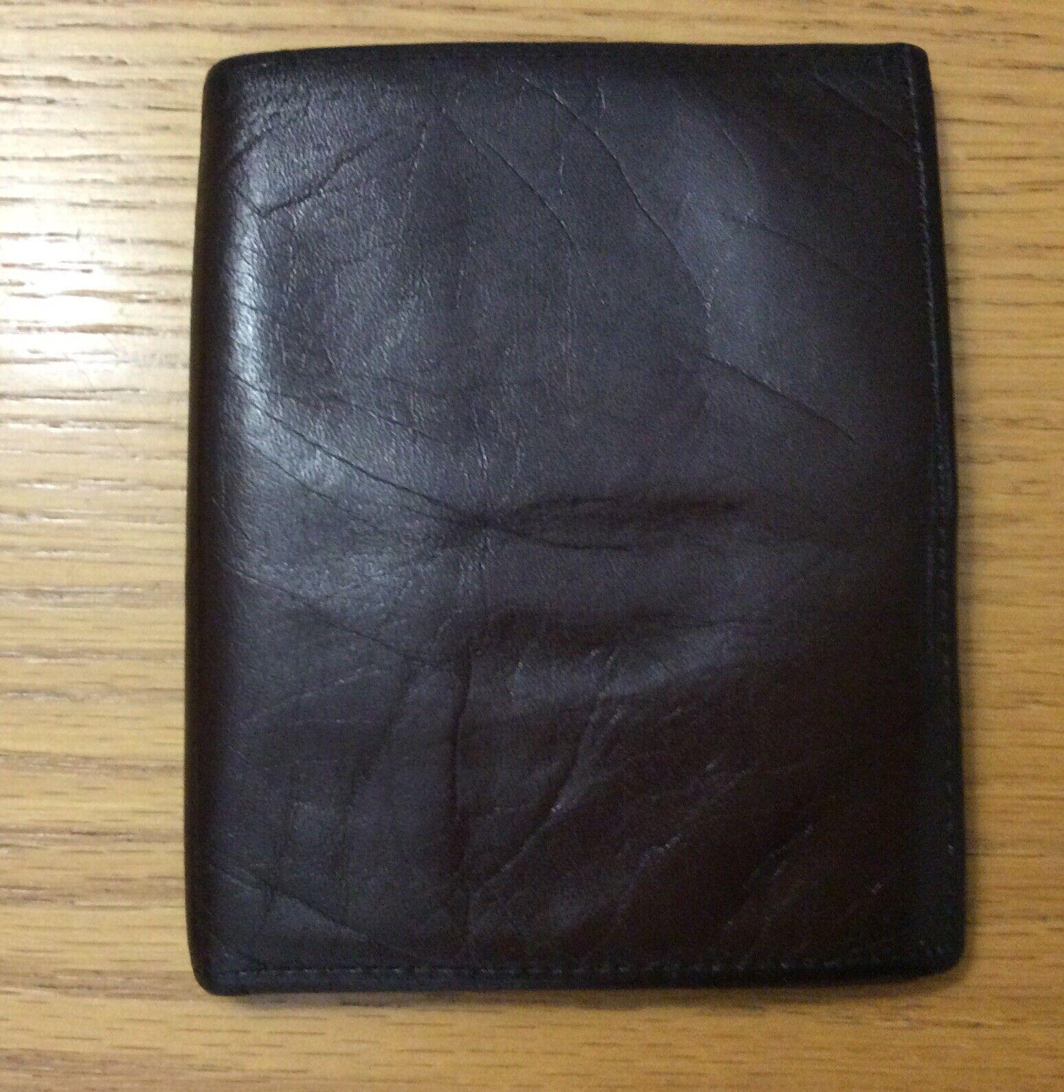 Vtg Rolfs Brown Mens Vintage BiFold Billfold Cowhide Wallet DAMAGE FLAWS