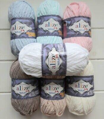 polar baby blanket yarn soft baby yarn Velvet 5 Skeins Alize Velluto Alize Yarns Chunky Chenille yarn Alize Velluto knitting bulky
