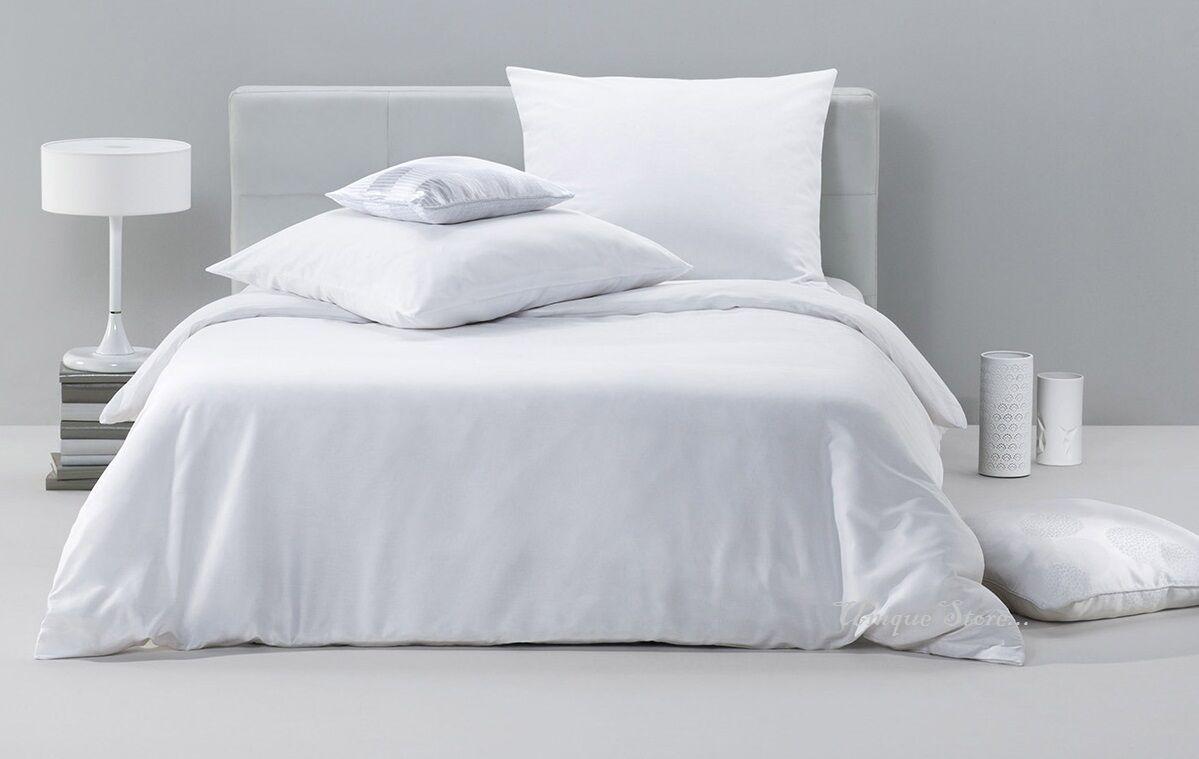 NEW ORIGINAL 800 THREAD COUNT 100% EGYPTIAN COTTON Duvet Set + Pillowcase Weiß