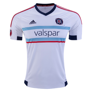 sports shoes 7e3f8 03731 Details about NEW Men ADIDAS Chicago Fire Away Jersey MLS White $85