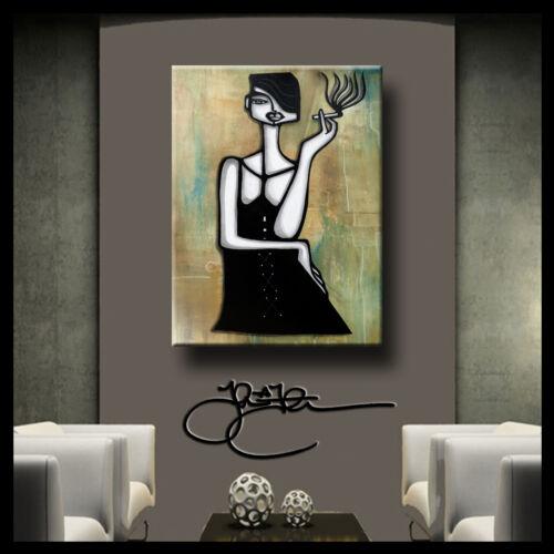 Original Abstract print Modern Woman Decor HUGE Canvas Wall Art by Fidostudio
