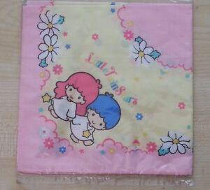 Vintage-Sanrio-Little-Twin-Stars-handkerchief-pastel-Colours-Fairy-Kei-style