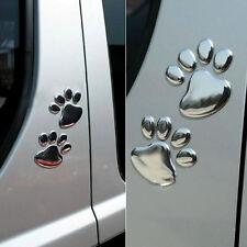 3D Dog Bear Footprints Chrome Badge Emblem Auto Aufkleber Abziehbild 1 Paar