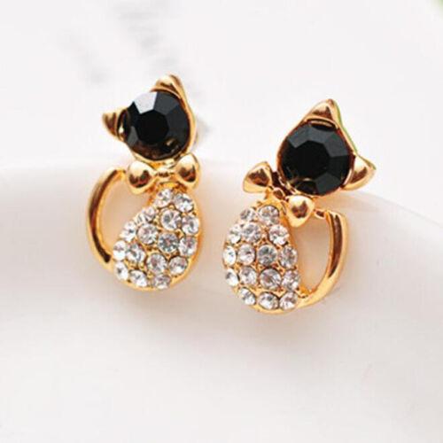 1 Pair Cute Women Lady Elegant Crystal Rhinestone Ear Stud Earrings Jewelry Gift