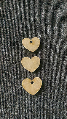 Wooden Hearts Laser Cut MDF Embellishment scrapmaking Craft Wedding 20mm-150mm