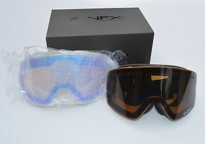 2015 DRAGON NFXS SNOWBOARD GOGGLES $160 inverse black jet yellow blue ion used