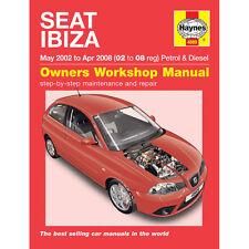 Seat Ibiza 1.2 1.4 Petrol 1.4 1.9 Diesel 2002-08 (02-08 Reg) Haynes Manual