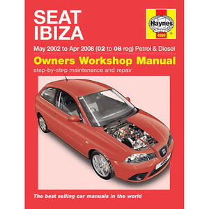 seat ibiza haynes manual 2002 08 1 2 1 4 petrol 1 4 1 9 diesel ebay. Black Bedroom Furniture Sets. Home Design Ideas