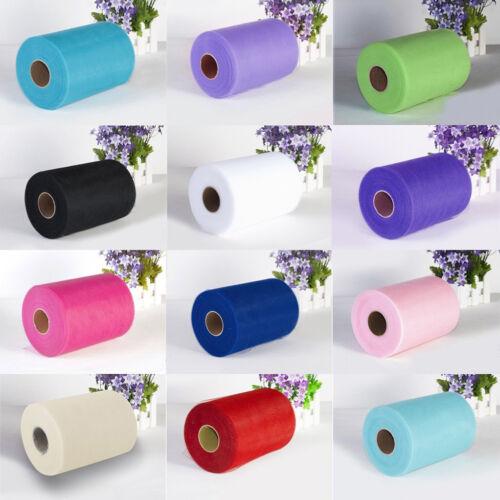 "Wedding Party 6/"" x 100 Yard Tulle Roll Spool Netting Tutu Craft Fabric Decor DIY"