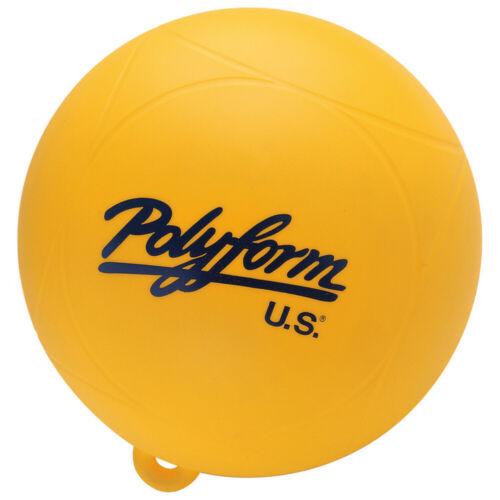 "3//8/"" Circumference 28.3/"" Polyform Water Ski Slalom Buoy Yellow Size:9/"" Eye Diam"