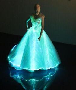 Image Is Loading Fiber Optic Light Up Elegant Princess Glowing Maxi