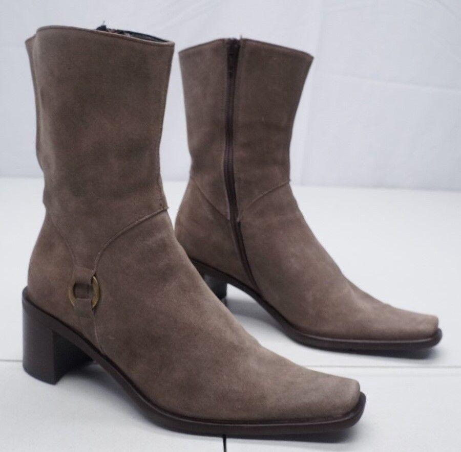 Valleverde Womens 4.5-5 ~ Mocha Brown Jennifer 6F Suede Leather Boots