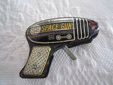 Vintage Tin Litho ATOMIC SPACE TOY GUN Japan  Working Condition c1950's