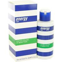 Energy Man By United Colors Of Benetton 3.3 Oz / 100 Ml Edt Spray Men In Box