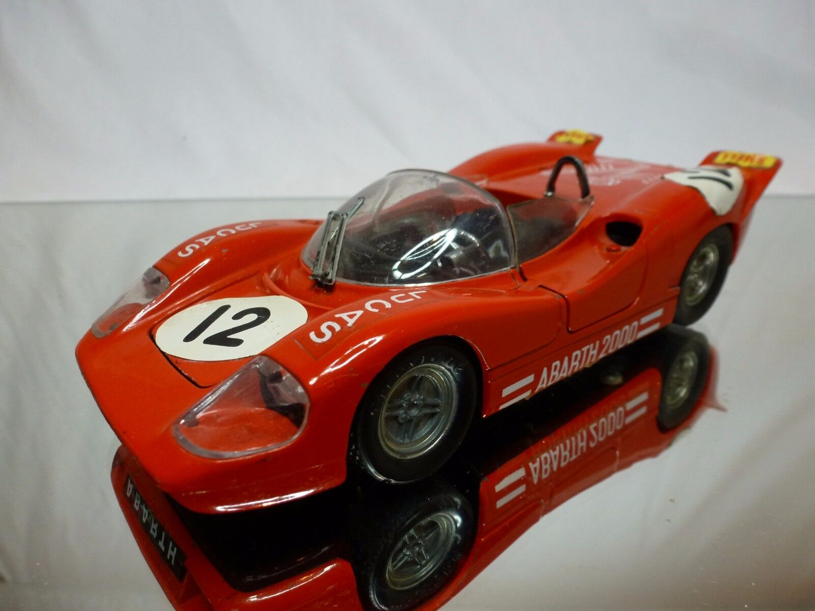 POLITOYS M 584 ABARTH 2000 - LUCAS rosso 1 25  - GOOD CONDITION (FIAT)
