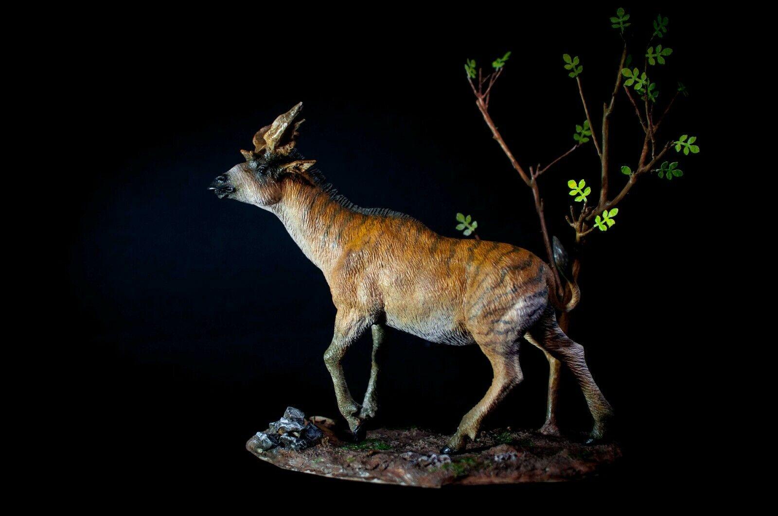 Paleontología sivatherium Estatua Figura Modelo Animal Regalo Decoración de coleccionista de base