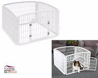 4 Panel Pet Playpen Plastic Exercise Dog Fence Kennel Indoor Outdoor Crate Safe