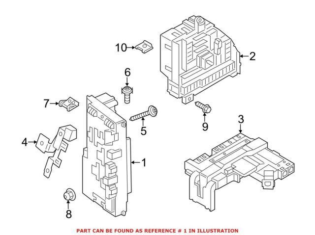 for bmw genuine fuse box front 61149315150