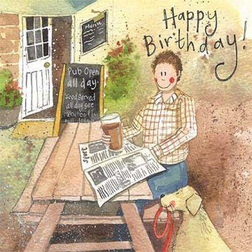 Alex Clark Hobbies Card Male Birthday