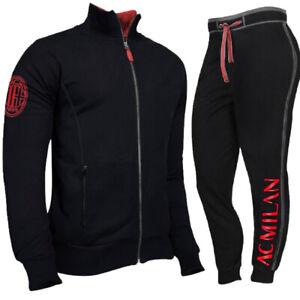 Détails sur Tuta Milan Calcio Felpa e Pantalone Abbigliamento AC Milan PS 39687