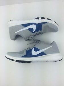 c410f2b39741f Nike Flex Control Size 8.5 Men s Training Shoes Wolf Grey White-Blue ...
