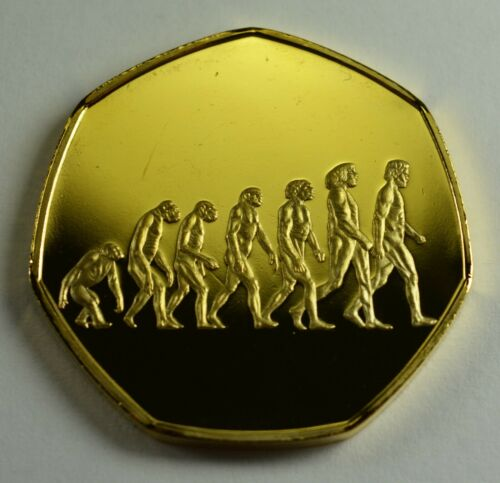 Evolution CHARLES DARWIN 24ct Gold Commemorative Coin Albums//50p Collectors