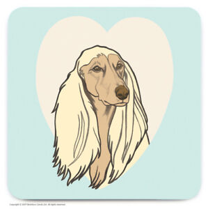 Image Is Loading Coaster Drinks Mat Cute Afghan Dog Lovers Novelty