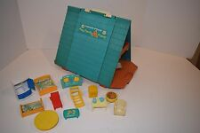Vintage 1974 Fisher Price Play Family A Frame House & Furniture