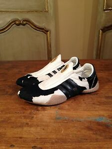 Womens Adidas Fur Bone Sneakers Shoes Size 8 #678678 Clean! Rare!