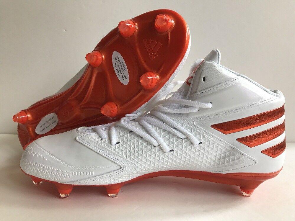 adidas - fußballschuhe größe orange ironskin 11,5 weiß / orange größe ah1344 neue 9871c9