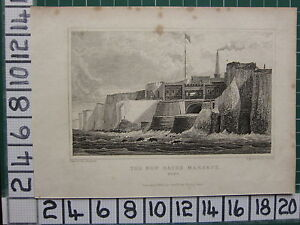 1829 Datato Antico Stampa ~ The New Bagno Margate ~ Kent