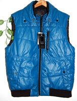 Xios Blue Black Trim Men's Puffy Warm Vest Size 2xl Jacket Tops