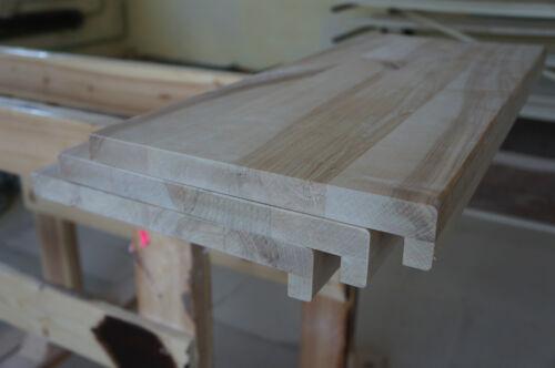 Rénovation étape escaliers le Bouleau Rustique Massif 26 mm continue lamelles