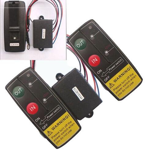 12V 50Ft Auto Sans Fil Console Télécommande Treuil Manuel de Voiture Consol Q6Y7